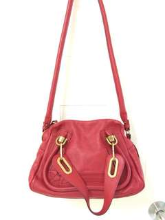 100% real Chloe Paraty bag 手袋 miu