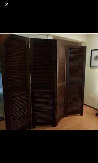 Solid wood room partition