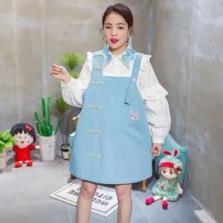 Baby Blue Dress Pinafore