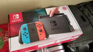 Brand New Switch with Reciept and Bomberman Game