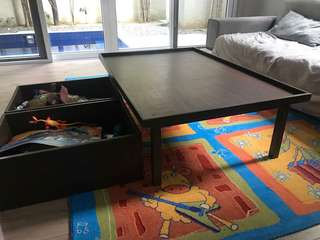 Table for kids with storage