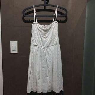 Amisu White Summer Dress