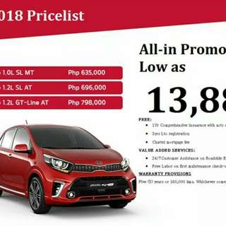 All new kia picanto sl 2018