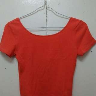 Tangerine Crop Top