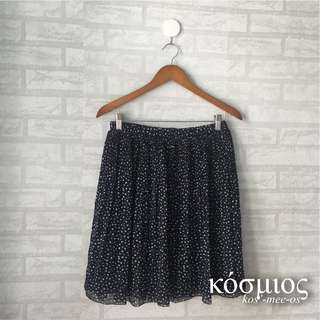NAVY CHIFFON SKIRT TRIANGLE UNIQLO