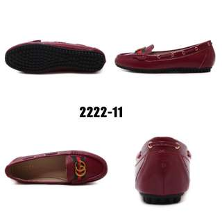 Gucci Moccasin #2222-11#4   Original Authentic Product Bahan: Leather Variant: Black, Brown, Maroon Berat: 0.5kg Insole: 36 : 22.5 cm 37 : 23 cm 38 : 23.5 cm 39 : 24 cm 40 : 24.5 cm  H 190rb