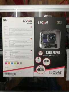 SJCAM SJ6 LEGEND ACTION CAM 2.0 TOUCH SCREEN