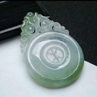 🏵️Grade A 水润 福气满满 Full of Blessings Jadeite Jade Pendant/Display🏵️