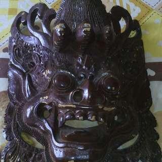 Pajangan Hiasan Dinding Topeng Bali Ukiran Jepara
