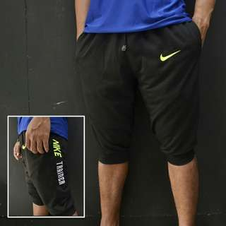 Sweatpants pendek nike trainer hitam