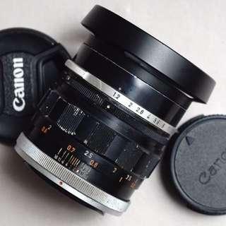 Lensa manual canon fl 58mm f1.2 normal