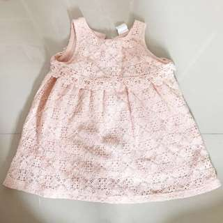 H&M hnm peach pink lace dress
