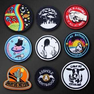 #16 tumblr circular iron on patch | PO
