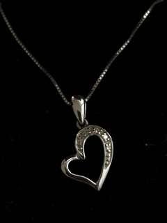 SK Jewellery Diamond Heart Pendant Necklace