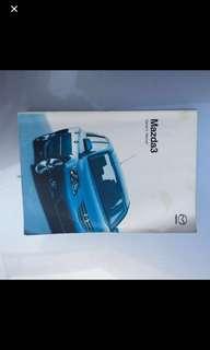 2006/2007 Mazda 3 original handbook