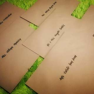 Calligraphy on Envelopes