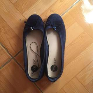 Soulmate navy blue doll-shoes