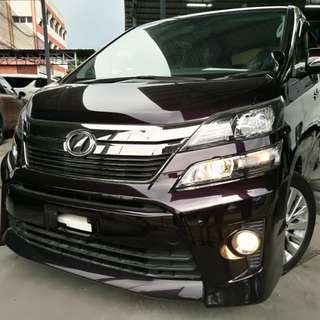 Toyota Vellfire 2.4 (A) Golden Eyes ~year 2013. UNREGISTERED