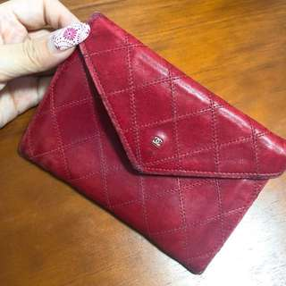 Chanel Vintage red pouch