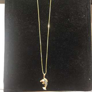 14K Chain with Fish Pendant 4.9g