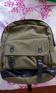 (IMMEDIATE SALE @$23) Zinc Green backpack - used only 1 time