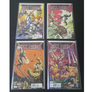 Marvel Secret Wars Battleworld #1 to 4