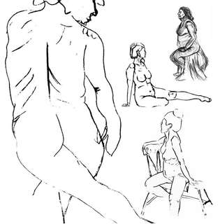 A0 & A1 paper various sheets - good for life drawing courses