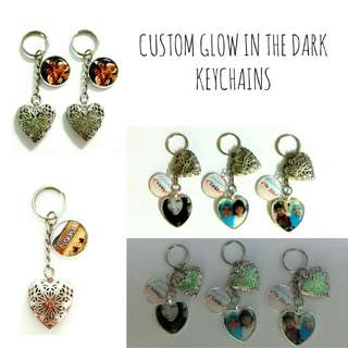 Customized Glow in the Dark Keychains