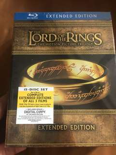 The Lord of the Rings the motion picture trilogy, blu ray extended edition