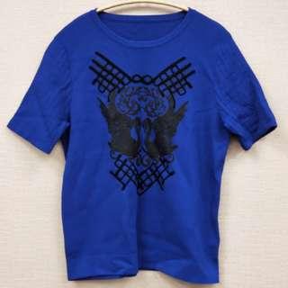 立體圖案針織短袖衫