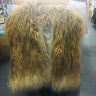 Guess Brown Fur Vest