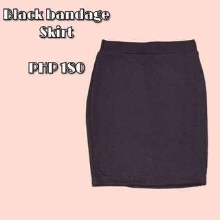 Black bandage formal skirt
