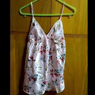 Pink silk lingerie top /sleepwear