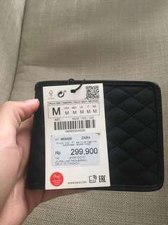 Dompet Zara Man Hitam Black Wallet bershka stradivarius pull and bear h&m mango