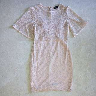 Closet Lover Romantic Lace Dress in Pink
