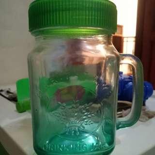 Gelas tutup / drinking Jar