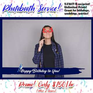 Photo booth Service $150/hr Promotion!