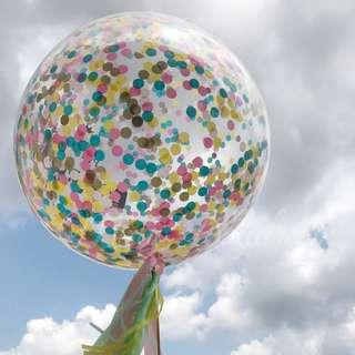 Helium Balloons - 36 Inch Confetti Neon Love Balloon