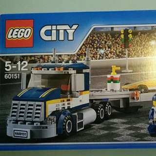 Original Lego City Dragster Transporter