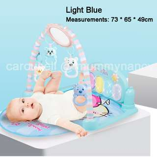 BNIB Baby Play Gym • Step Piano • Musical Gym • Musical Gym (Smaller Size - Light Blue / Light Pink Colour)