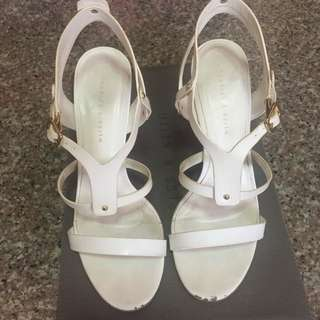 Preloved Charles & Keith White Heels
