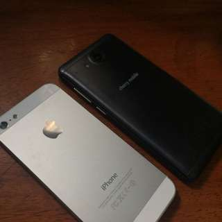 iPhone 5 and CM Flare S5 Mini