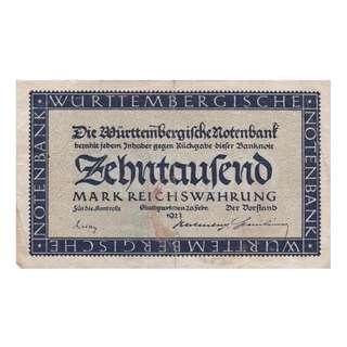 德國紙幣10000 Mark