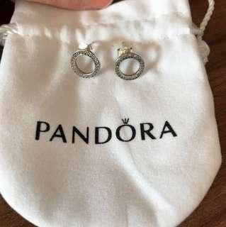 Pandora 純銀耳環