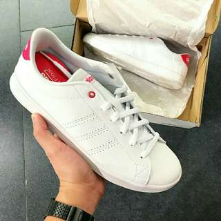 For sale Original Adidas Neo Cloudfoam Advantage QT White Pink