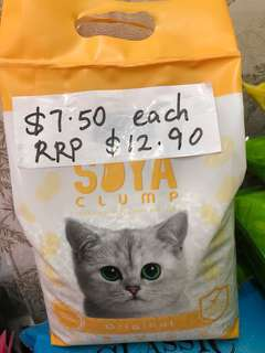 Cat Litter Soya Clump Flushable and value buy