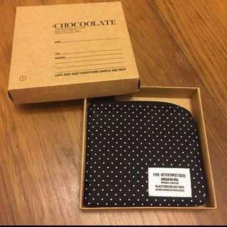 ☆:CHOCOOLATE 拉鍊銀包 / 散子包 chocolate 波點 ☆