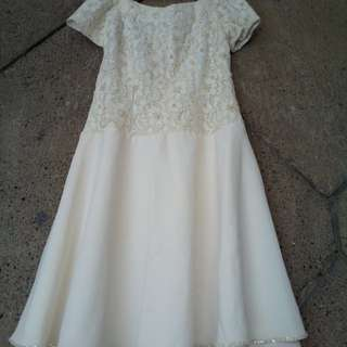 White Short gown