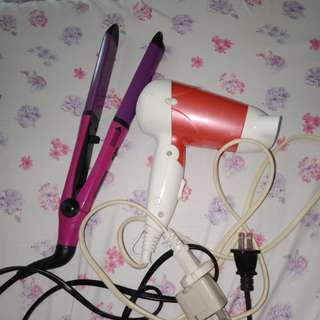 Hair straightener and hair dryer