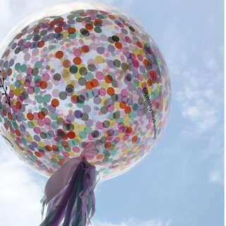 Helium Balloons - 36 Inch Confetti Rainbow Unicorn Balloon